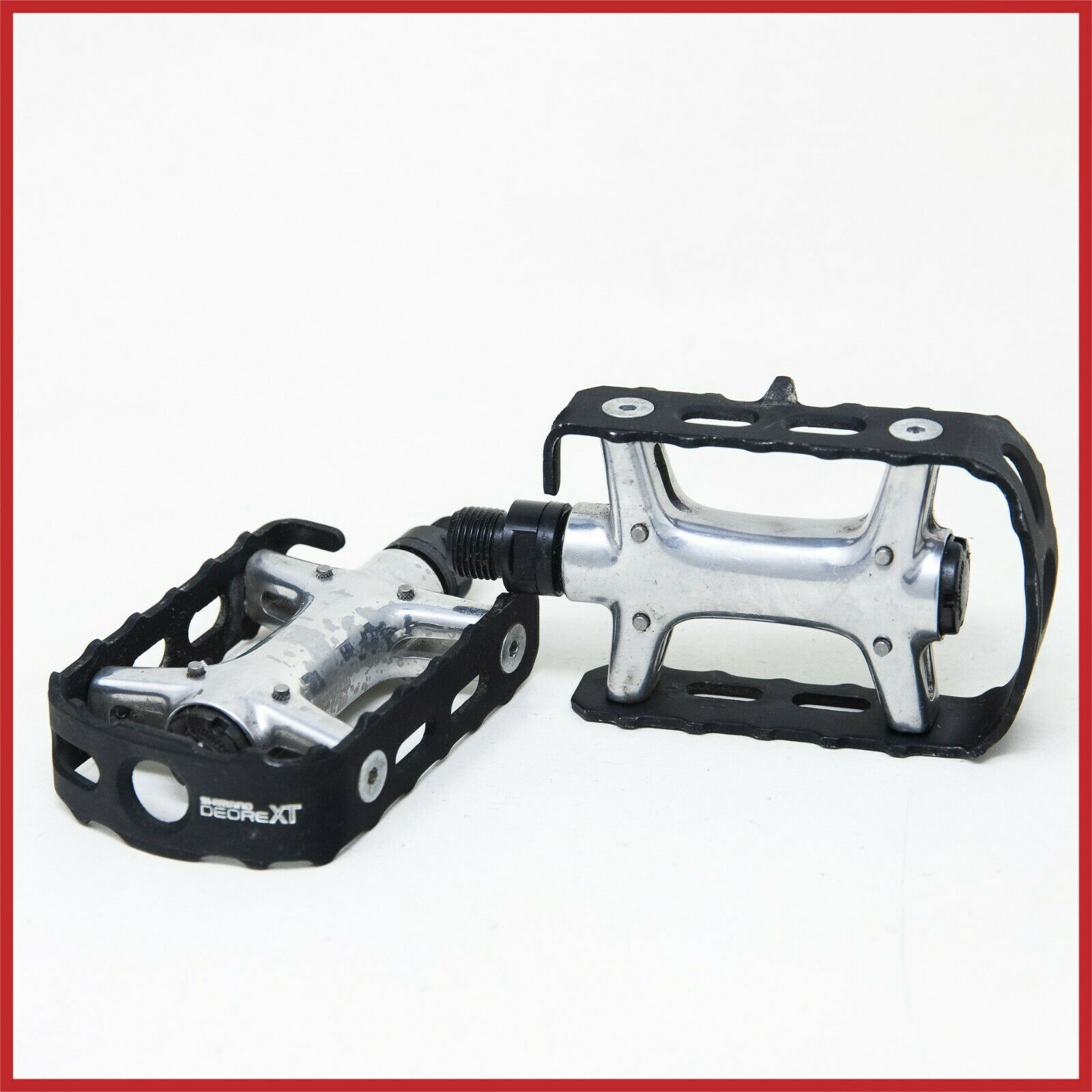 NOS SHIMANO XT QUILL PEDALS PDM731 MTB 916x20 MOUNTAIN BIKE BICYCLE VINTAGE