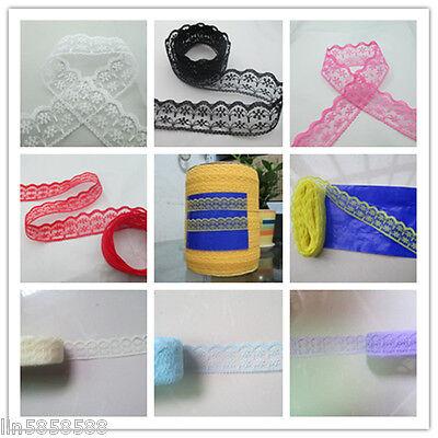 133-1  Unilateral lace ribbon 10/20/50 yards  beautiful free shipping