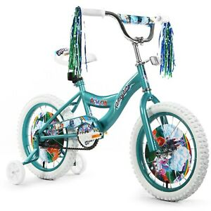 Girls 16 Bicycle Bike With Removable Training Wheels For Kids Teal Unicorn New 23632037428 Ebay