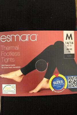 ESMARA Ladies/' Thermal Thick Tights Soft Fleece S
