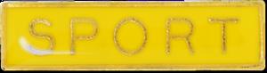 Sport Bar Pin Badge in Yellow Enamel