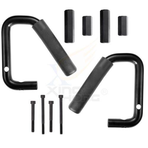 4x Rear /& Front Grab Bar Steel Grab Handles For 07-17 Jeep Wrangler JK 2//4 Door