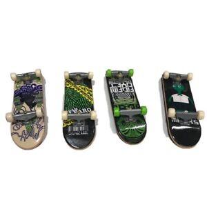 Tech Deck Lot of 4 Green Black Theme Mini Skateboards Alien Adam Alfaro Black