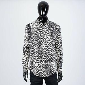 CELINE-970-Men-039-s-Classic-Shirt-In-Animal-Print-Viscose