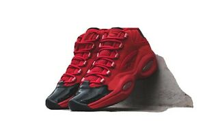 Reebok-Question-Allen-Iverson-Heart-Over-Hype-patent-Black-Red-Rare-HTF-fw5304