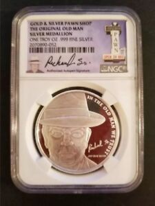 2015 Pawn Stars Quot Old Man Quot 1 Troy Oz 999 Silver Round Coin