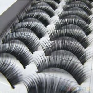 Handmade-Natural-Thick-False-10-Pairs-Eyelashes-Long-Eye-Extension-Makeup-Lashes