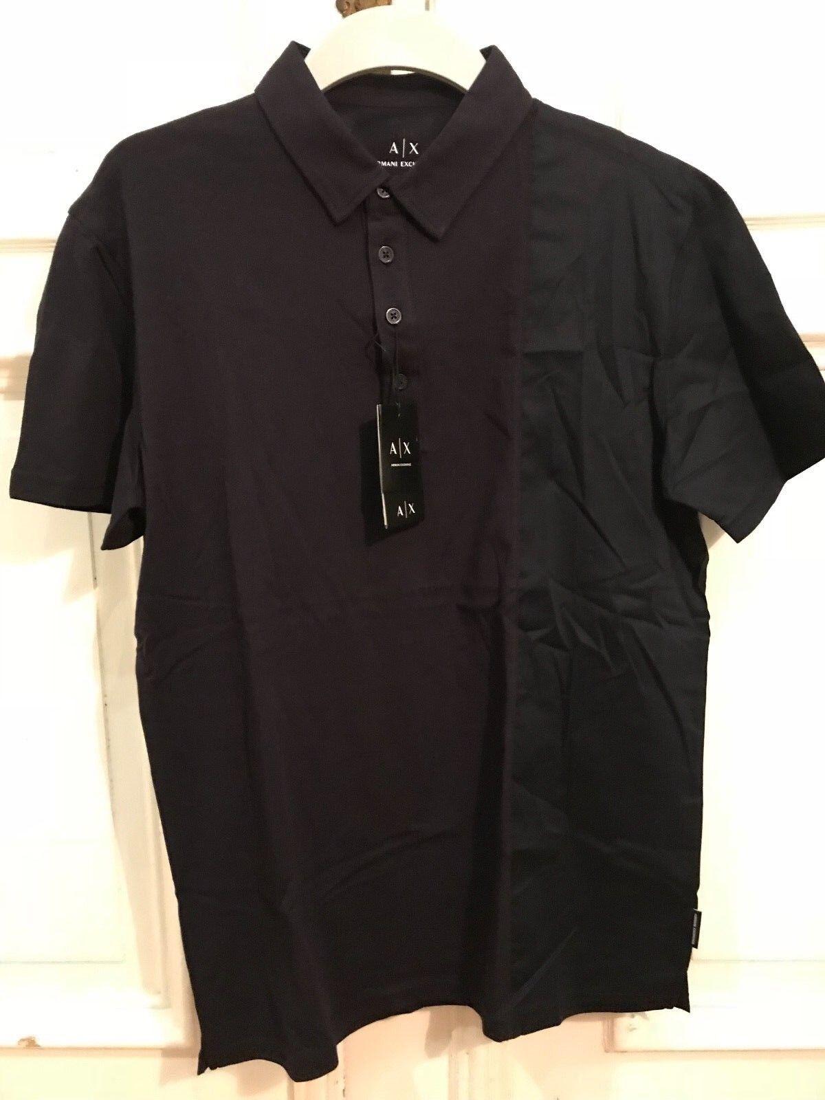 A X Armani Exchange Poloshirt Polo Shirt black Gr. M 100% Cotton NEU