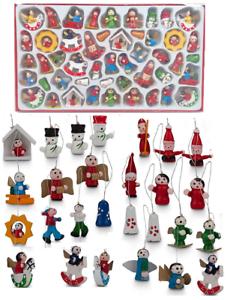 48-dettaglio-Alto-in-Legno-Albero-di-Natale-Appeso-Decorazioni-Angeli-Campane-Pupazzo-di-Neve