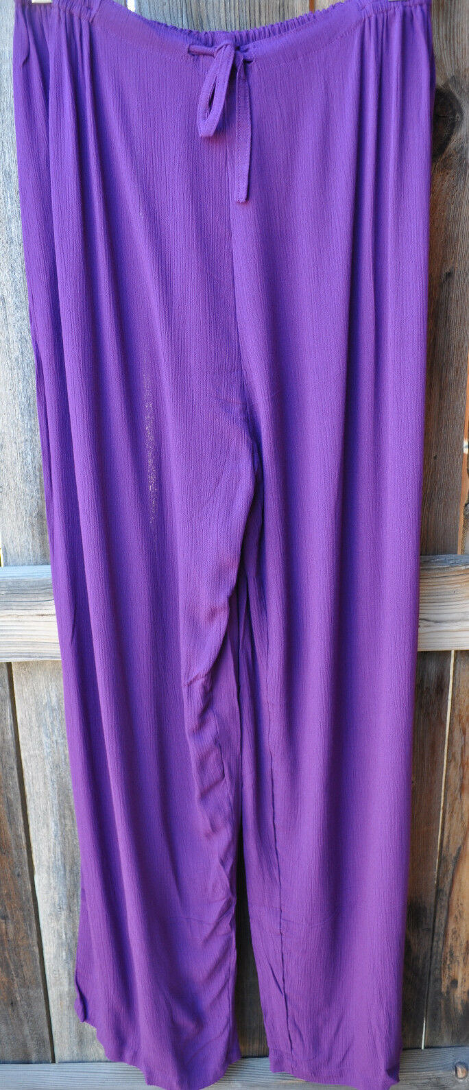 ART TO WEAR 4 PANT IN SOLID IRIS PURPLE BY MISSION CANYON,ONE SIZE, NWT ,