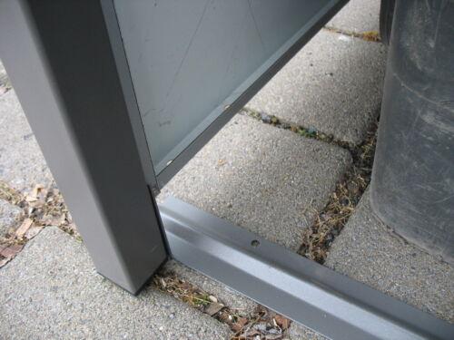 Metall Mülltonnenbox aus Metall Müllbox Mülltonnenschrank 3x240-l-K-foliert