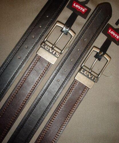 LEVI/'S Mens Reversible Bonded Leather Belt Brown Black New 32 34 36 38 40 42