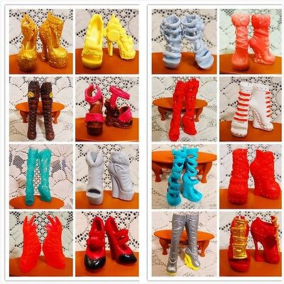"10 Pairs Fashion High Heeled Shoes 2.17/"" Boots for 11/""  Doll Outfit*/_*"