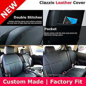 Image Is Loading Clazzio Custom Perfect Fit Leather Seat Cover Black