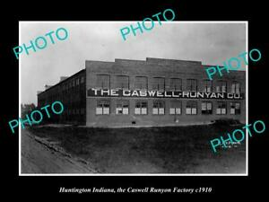 OLD-LARGE-HISTORIC-PHOTO-OF-HUNTINGTON-INDIANA-THE-CASWELL-RUNYON-FACTORY-c1910