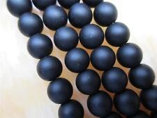 8mm black Round Gem loose Beads 15''##QF420