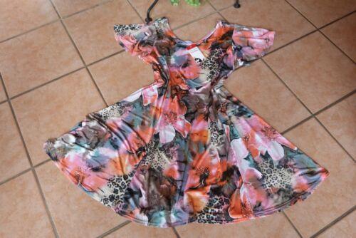 Kleid 44 Magna A Stretch Bunt Fließend 46 Neu Motiv Edel Lagenlook form Tunika q5q1Z