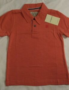MSRP $29.50 NWT Lucky Brand Toddler Boy/'s Short Sleeve Polo Shirt Size 4T Coral