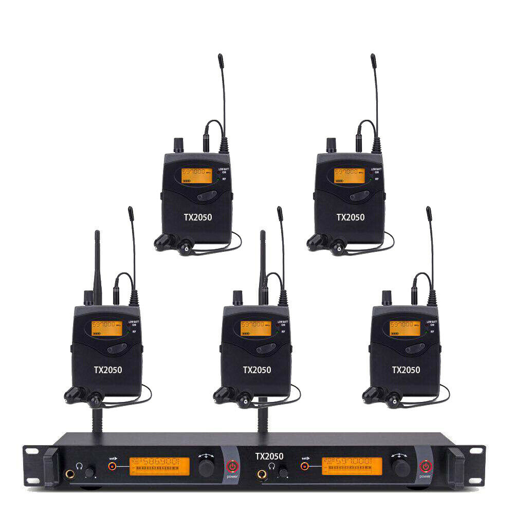 Wireless In Ear Monitor System UHF Professional Audio 5 Receiver 240 Channel