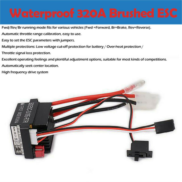 320a ESC Brushed Speed Controller for RC Car Truck Boat