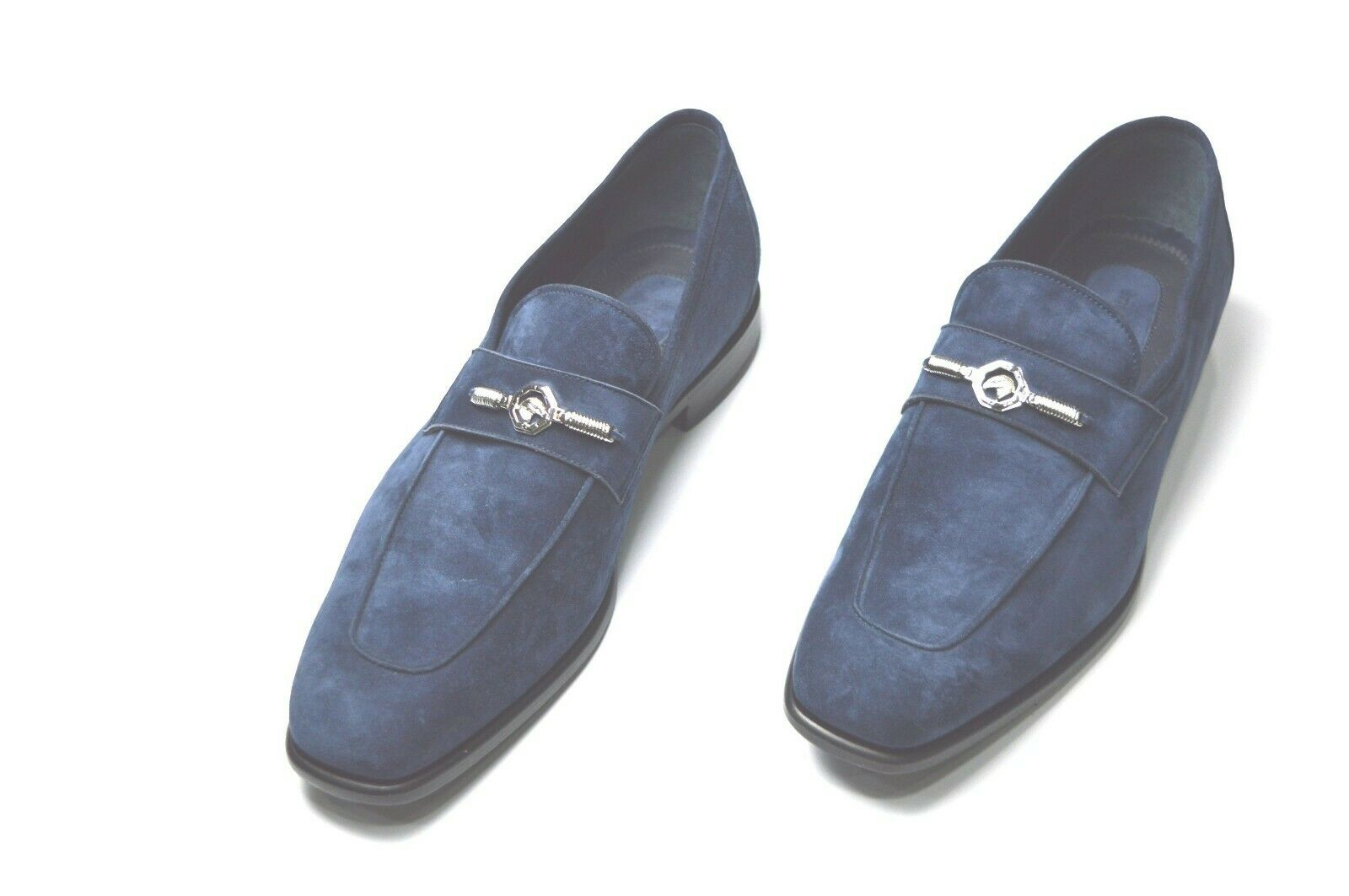 Nouveau STEFANO RICCI Mocassins Logo Luxe Chaussures Taille Eu 41 Uk 7 Us 8 (A455)