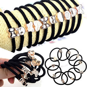 Hot-10X-Set-Girls-Elastic-Hair-Ties-Band-Ropes-Ring-Ponytail-Holder-Accessories
