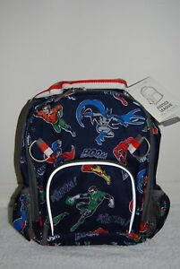 Image is loading Pottery-Barn-Kids-SMALL-JUSTICE-LEAGUE-Superheros-Backpack- b986883ffe