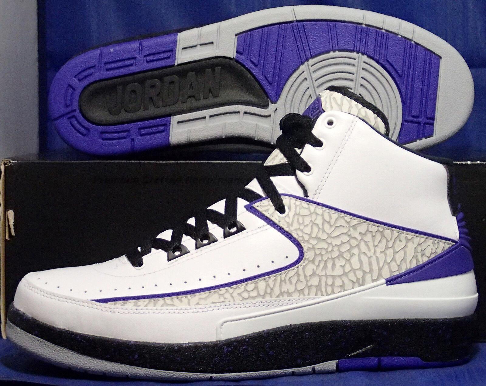 Nike air jordan ii retro bianco bianco bianco nero scuro concord grigio sz 10 (385475-153) | Pregevole fattura  | Uomini/Donne Scarpa  a1b6c0