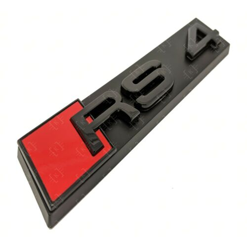 Full Black Out Set Rings Gloss Black Grille /& Boot Badge Emblem Set Audi RS4