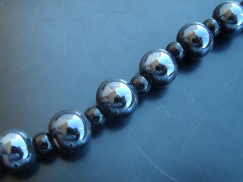1 Sarta unas 24 bolas cerámica 11mm Negro ceramica bola abalorios cuentas hilo