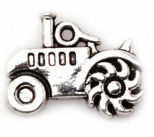 DIY Jewelry 10Pcs Tibetan Silver tractor Jewelry Crafts Charms Pendants TA2721