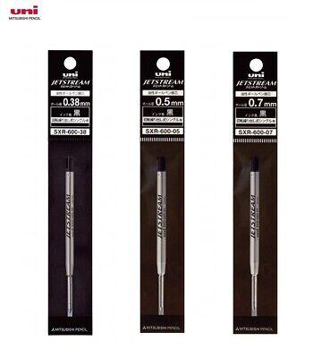 Uni Jetstream Prime Rotary Single Ballpoint Pen Refill Black SXR-600-38 mm3 Type