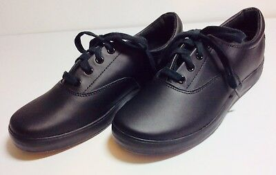 Comfort Shoes Grasshoppers Work Shoes Laced Black Size 7 1/2m With Purefit Comfort Cushion