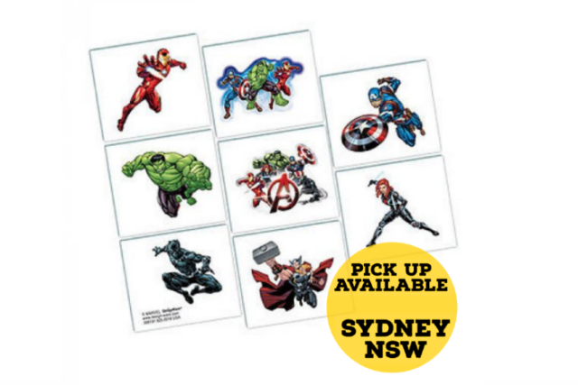 Avengers Temporary Tattoos Loot Bags Filler Birthday Party Favours Supplies