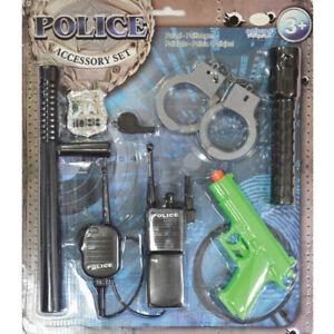 KIT-di-accessori-di-Polizia-Per-Bambini-Costume-regalo-Uniforme-Costume-Manette-Set-Amscan