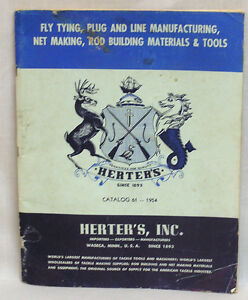 vintage fishing supplies catalog herters 1954 160 page wholesalers, Fishing Gear