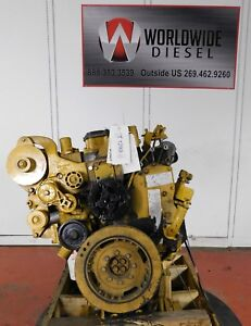 2004-CAT-C7-Diesel-Engine-Take-Out-Turns-360-Engine-Is-Good-For-Rebuild-Only