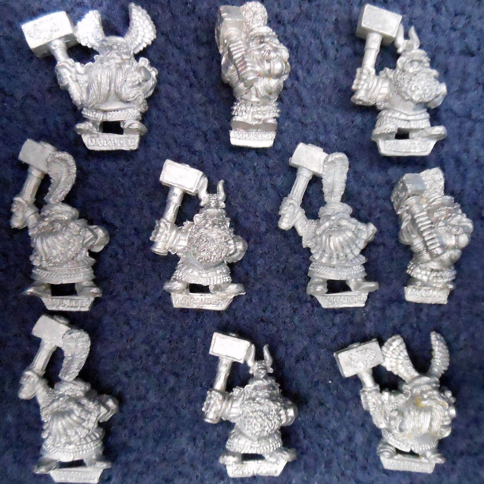 1990 marer dwarf MM16 hammerer x10 nains warhammer armée citadelle ad&d aos gw