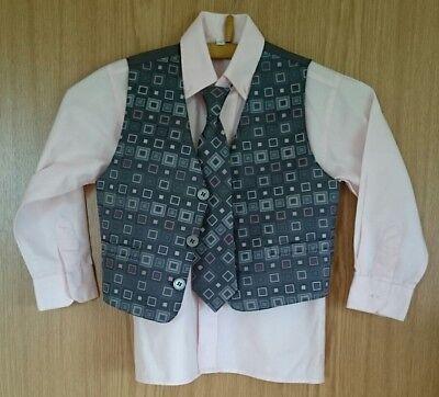 Cooler Anzug Für Den Gentleman Weste Krawatte Kommunion Party Geburtstag 100% Garantie