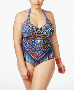 634184d4c4 NEW Jessica Simpson Peri Multi Dusty Road Macrame One piece Swimsuit ...