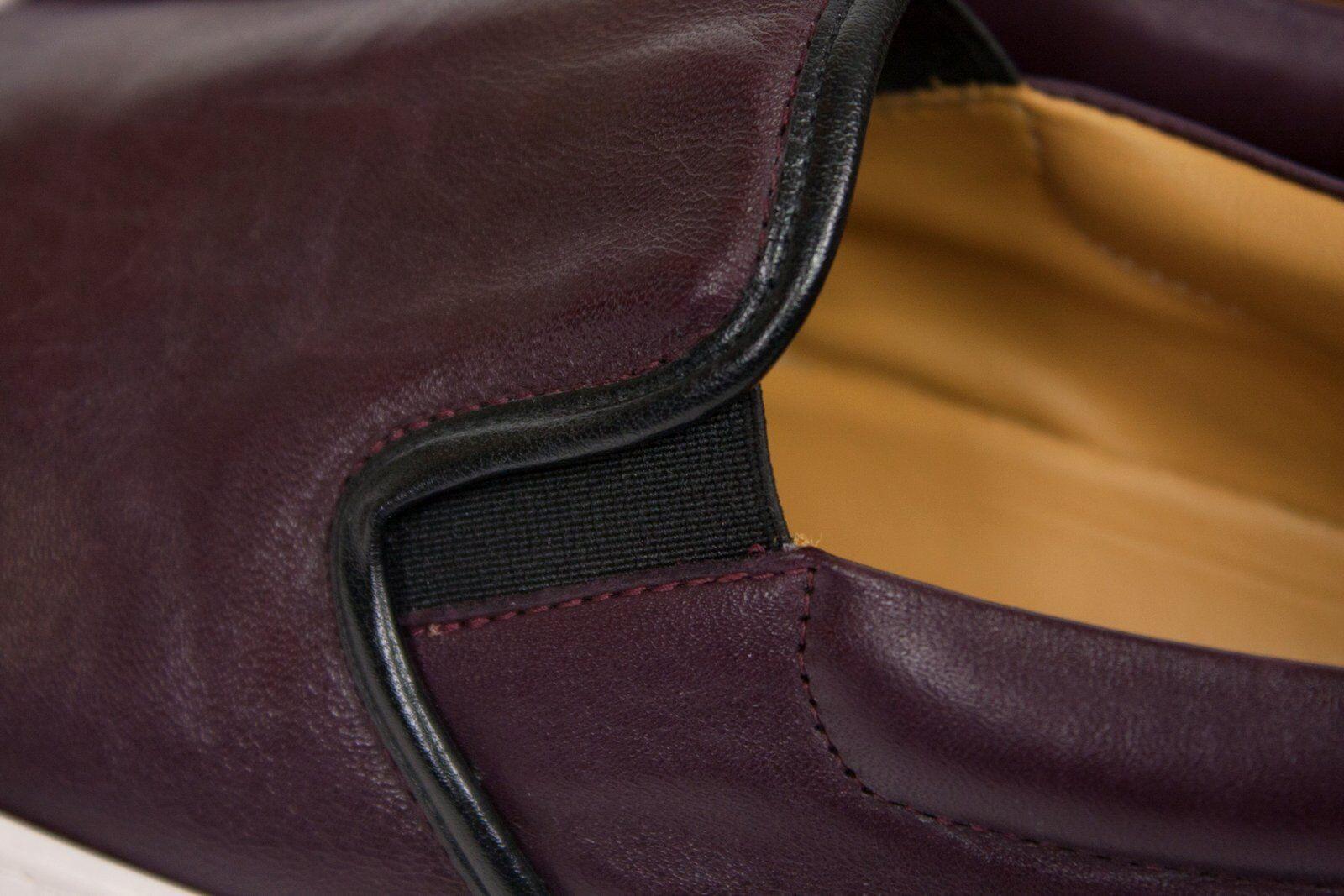 FABIO RUSCONI donna Deep Burgundy Burgundy Burgundy rosso Genuine Leather Slip On scarpe EU 39  26cf7a