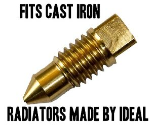 Radiator-BRASS-BLEED-SCREW-AIR-VALVE-VENT-TYPE-1-FITS-IDEAL-CAST-IRON-RAD