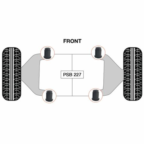 Lower Front Arm PSB Poly Polyurethane Bushes 05-14 Nissan D40 Navara