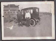 VINTAGE PHOTOGRAPH 1900'S HOUSTON CLUTE TEXAS OLD CAR AUTO MEN FASHION HAT PHOTO