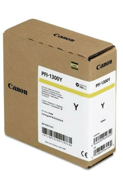 Canon PFI1300Y Yellow Ink  (330ml) for imagePROGRAF PRO-2000,4000