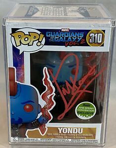 Funko Pop Yondu Signed Michael Rooker Guardians of the Galaxy 2 ECCC Beckett COA