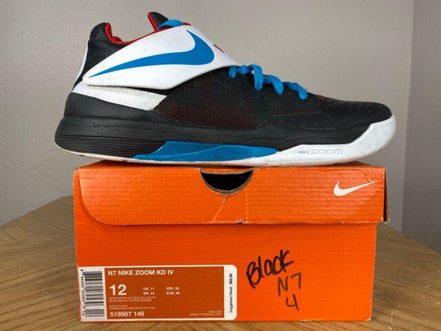 Nike Zoom KD 4 N7 Away Black White Blue