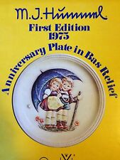 M.I. Hummel 1st Edition 1975 STORMY WEATHER Anniversary plate by Goebel w/ Box