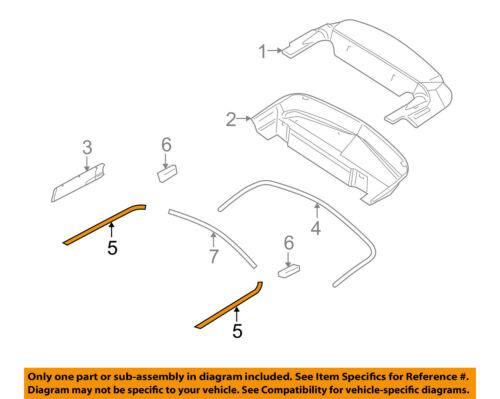 FORD OEM 10-14 Mustang Convertible Top-Outer Molding Left AR3Z76423A19AA