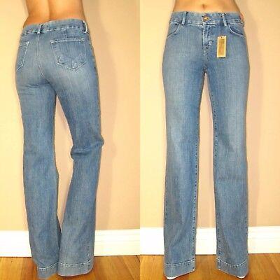 $ 227 J Brand Monroe Donna Vita Alta Gamba Larga Flare Pantaloni Jeans Biologico